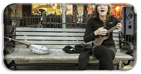 Ukelele iPhone Cases - Annabelle iPhone Case by Joe Longobardi