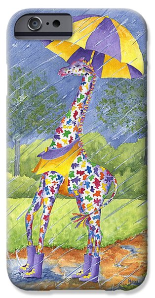 Recently Sold -  - Rainy Day iPhone Cases - Annabelle Splash iPhone Case by Rhonda Leonard