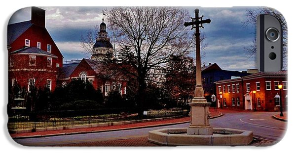 Annapolis Maryland iPhone Cases - Annapolis Dawning iPhone Case by Benjamin Yeager