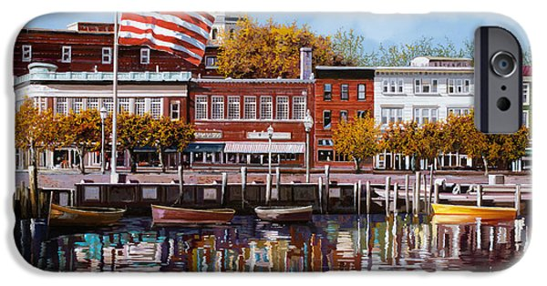 Flag iPhone Cases - Annapolis iPhone Case by Guido Borelli
