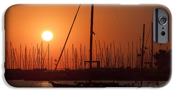 Ego iPhone Cases - Annapolis Harbor Sunrise I iPhone Case by Clarence Holmes