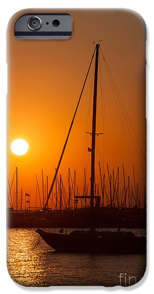 Ego iPhone Cases - Annapolis Harbor Sunrise II iPhone Case by Clarence Holmes