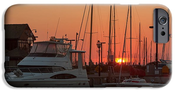 Ego iPhone Cases - Annapolis Harbor Sunrise III iPhone Case by Clarence Holmes
