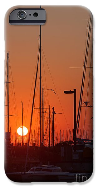 Ego iPhone Cases - Annapolis Harbor Sunrise IV iPhone Case by Clarence Holmes