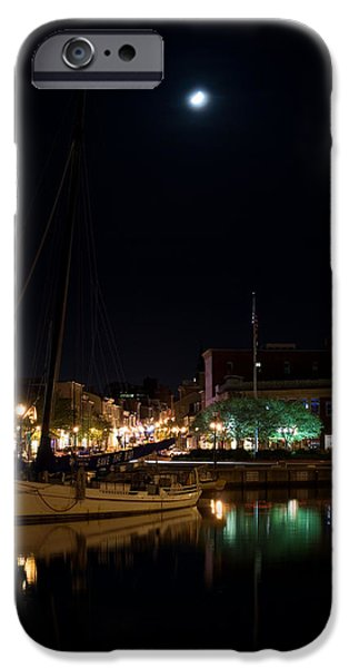 Ego iPhone Cases - Annapolis Maryland Panorama iPhone Case by Benjamin Reed