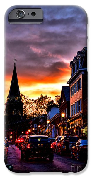 Annapolis Maryland iPhone Cases - Annapolis Night iPhone Case by Olivier Le Queinec