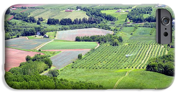 Agriculture iPhone Cases - Annapolis Valley Farmland iPhone Case by Brian Chase