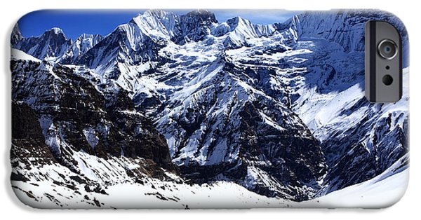 Circuit iPhone Cases - Hiker In Mountain Landscape iPhone Case by Aidan Moran