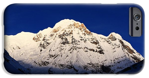 Circuit iPhone Cases - Annapurna South In Evening Light iPhone Case by Aidan Moran