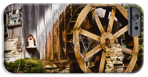 Grist Mill iPhone Cases - Annas Garden Cafe iPhone Case by Greg Jackson