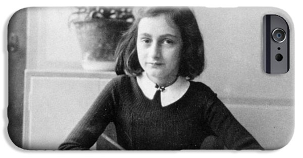 Anne iPhone Cases - Anne Frank iPhone Case by Unknown