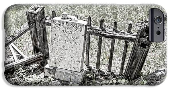 Opie iPhone Cases - Annie Opie - Elkhorn Ghost Town - Montana iPhone Case by Daniel Hagerman