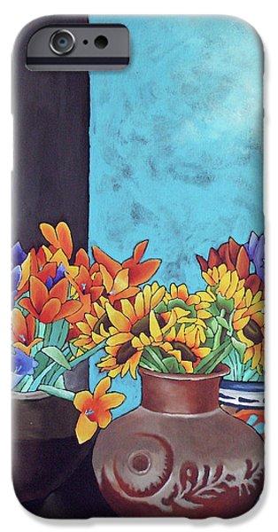 Annie's Flowers iPhone Case by Yvonne Gillengerten