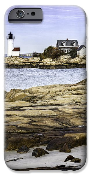 Rockport Ma iPhone Cases - Annisquam Light iPhone Case by Betty Denise