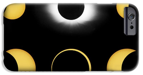 Solar Eclipse iPhone Cases - Annular And Total Solar Eclipses iPhone Case by John Chumack