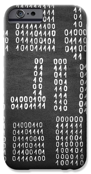 Quotation iPhone Cases - Anonymous - Binary Painting by Marianna Mills iPhone Case by Marianna Mills