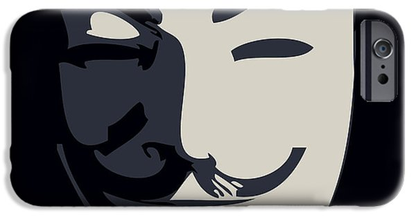 Activist iPhone Cases - Anonymous Guy Fawkes iPhone Case by Pixel Chimp