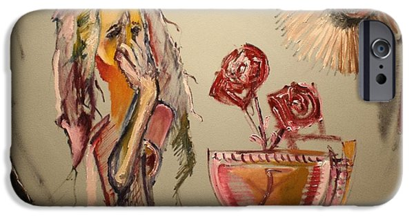 Pallet Knife Paintings iPhone Cases - Anonymous iPhone Case by Michael Kulick