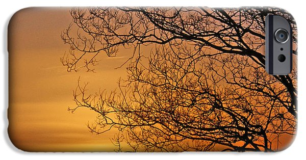 Sunset Reliefs iPhone Cases - Another Day done in Texas iPhone Case by Gordon  Fikes