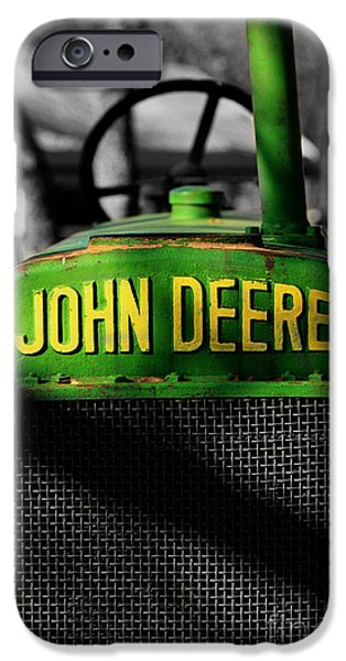 Selective Color iPhone Cases - Another Deere iPhone Case by Cheryl Young