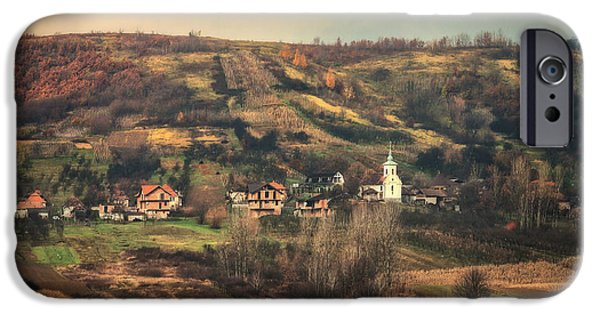 Autumn Landscape Pyrography iPhone Cases - Another face of Maramures.. iPhone Case by Catalin Fudulu