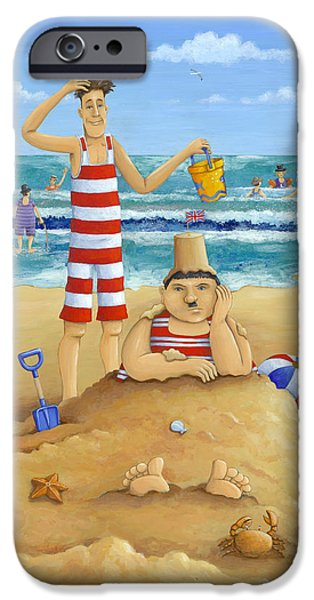 Bathing iPhone Cases - Another Fine Mess iPhone Case by Peter Adderley