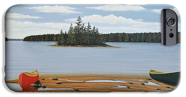 Canoe iPhone Cases - Another Glorious Day iPhone Case by Kenneth M  Kirsch