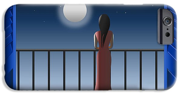 Balcony iPhone Cases - Another Night Alone iPhone Case by Anna Elia