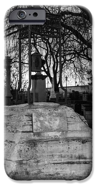 Final Resting Place iPhone Cases - Another Unusual Tombstone iPhone Case by Robert Hebert