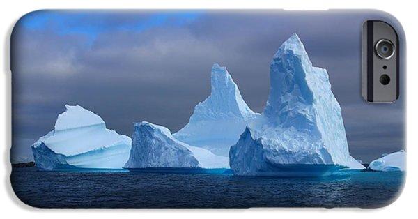 Winter Storm iPhone Cases - Antarctic Iceberg 3 iPhone Case by FireFlux Studios