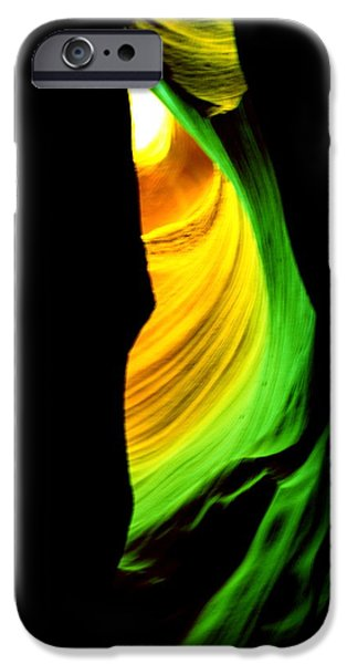 Antelope Canyon Abstract iPhone Case by Aidan Moran