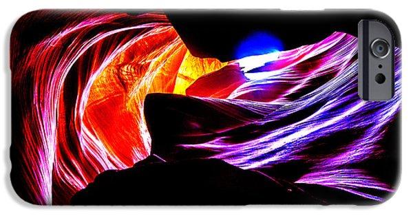 Antelope Canyon iPhone Cases - Antelope Canyon Colours iPhone Case by Az Jackson