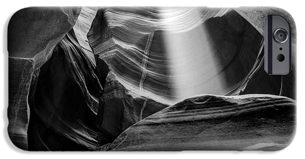 Page iPhone Cases - Antelope Canyon Beam 2 iPhone Case by Az Jackson