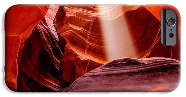 Page iPhone Cases - Antelope Canyon Beam iPhone Case by Az Jackson