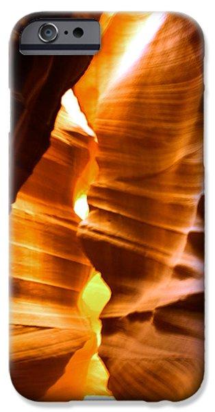 Antelope Canyon - Canyon Abstract iPhone Case by Aidan Moran