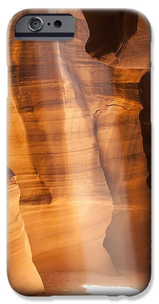 Navajo Nation iPhone Cases - ANTELOPE CANYON Gorgeous Light Beam iPhone Case by Melanie Viola