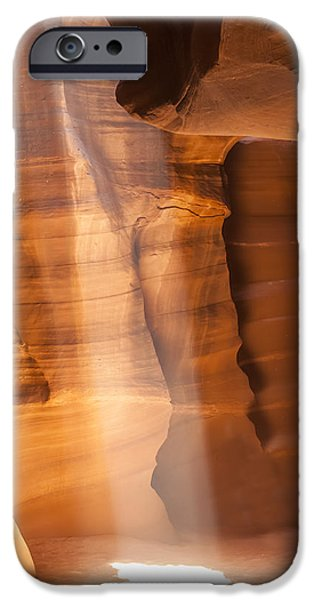 Navajo Nation iPhone Cases - Antelope Canyon Gorgeous Lightbeam iPhone Case by Melanie Viola