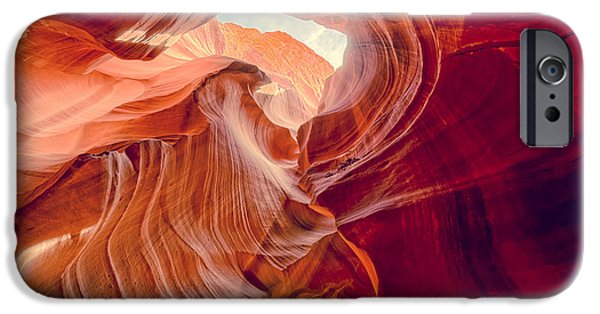 Lake Powell iPhone Cases - Antelope Canyon Navajo Nation Page Arizona Weeping Warrior iPhone Case by Silvio Ligutti