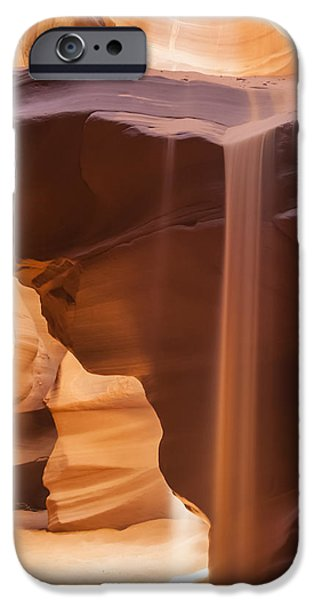 Navajo Nation iPhone Cases - Antelope Canyon Pouring Sand iPhone Case by Melanie Viola