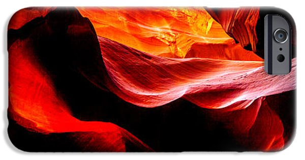 Red Photographs iPhone Cases - Antelope Canyon Rock Wave iPhone Case by Az Jackson