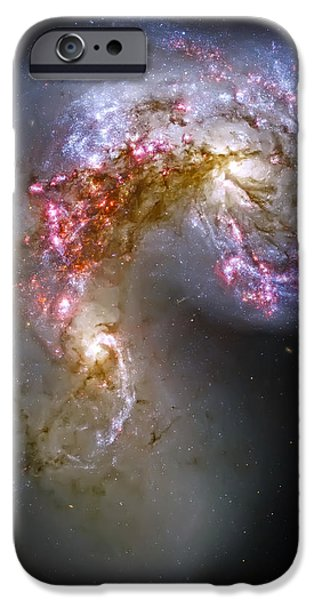 Antennae Galaxies Collide 1 iPhone Case by The  Vault - Jennifer Rondinelli Reilly