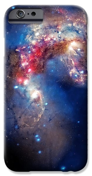 Antennae Galaxies Collide 2 iPhone Case by The  Vault - Jennifer Rondinelli Reilly