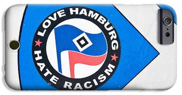 Sticker iPhone Cases - Anti-racism sticker iPhone Case by Tom Gowanlock