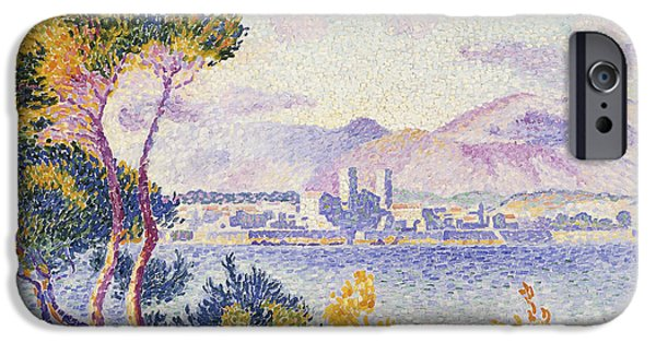 Port Town iPhone Cases - Antibes Afternoon iPhone Case by Henri Edmond Cross