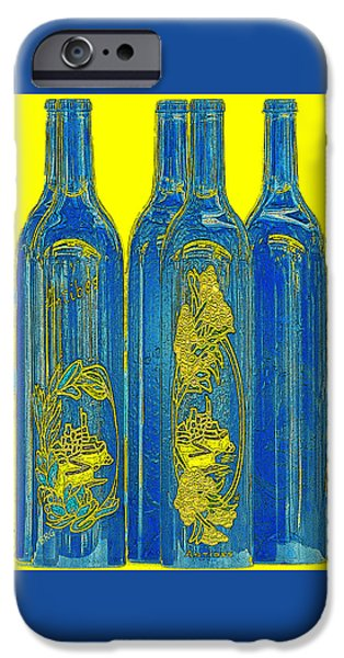 Brg iPhone Cases - Antibes Blue Bottles iPhone Case by Ben and Raisa Gertsberg