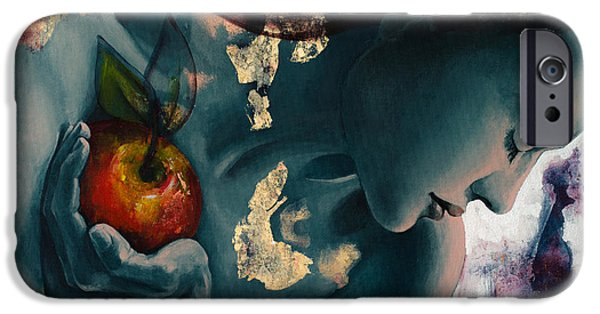 Eva iPhone Cases - Anticipation iPhone Case by Dorina  Costras