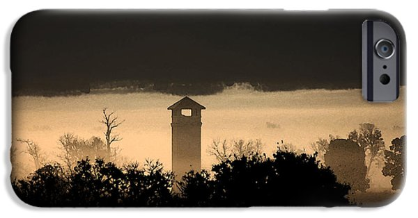 War iPhone Cases - Antietam Fog Under Tower iPhone Case by Ty McMurray
