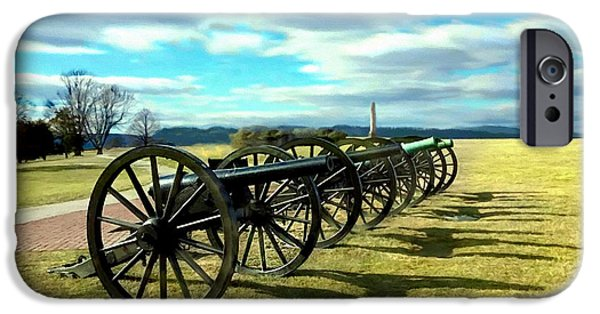 The View Mixed Media iPhone Cases - Antietem Battlefield Painting ForSale iPhone Case by  Bob and Nadine Johnston