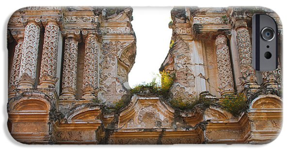 Original Photography iPhone Cases - Antigua Ruins iPhone Case by Carey Chen
