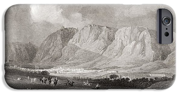 Nineteenth iPhone Cases - Antioch In Syria, From The South West, From A 19th Century Engraving.  From The Imperial Bible iPhone Case by Bridgeman Images
